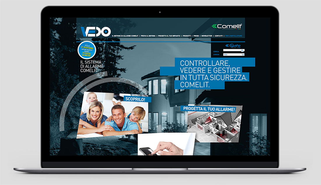 comelit vedo security website